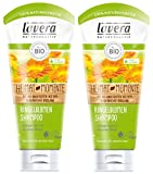 lavera Haar Shampoo Ringelblume ∙ Seidiger Glanz & intensive Pflege ∙ vegan  Bio Haarshampoo  Natural & innovative Hair Care  Naturkosmetik ∙ Haarpflege 2er Pack (2 x 200 ml)