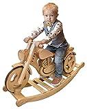 Kandu Classic Schaukelmotorrad Laufrad Schaukelpferd Holzmotorrad kologisches Holzspielzeug Fr Kinder