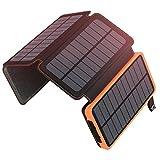 Solar Powerbank 25000mAh ADDTOP Tragbare Solar...