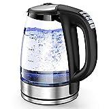 HadinEEon Wasserkocher mit Temperatureinstellung, 2200W...
