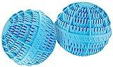 Rosenstein & Söhne Waschkugel: Keramik-Wäscheball mit 80 Mineralstoffen 2er-Set (Wäschekugeln)