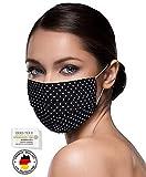 Unisex schwarze Stoffmasken Mundschutz Maske Stoff 100%...