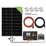ECO-WORTHY 120W 12V Solarpanel-Kit mit 20A...