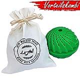 LeArt Öko Waschball & Beutel | Bio Waschen ohne Waschmittel | Waschkugel für Waschmaschine | Ideales Produkt o. Geschenk für Allergiker & Kinder & Babys | Umweltfreundlich & Nachhaltig