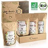 BIO Kaffeebohnen Probierset 1kg | Premium Arabica Kaffee Ganze Bohnen Set 4x250g | Traditionelle Rstung | Surearm | Geschenk-Idee