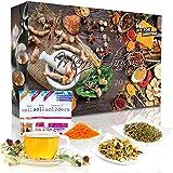 Wellness-Tee-Adventskalender 'Fit for Christmas 2019' mit 24 Detox-, Wellness-, Ayurveda- und Bio-Tees und 4 berraschungen zur Entspannung   Weihnachtskalender