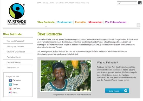 Fairtrade System: Produkte aus fairem Handel
