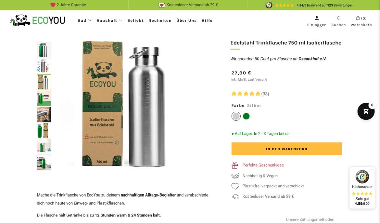 EcoYou_nachhaltige Trinkflaschen